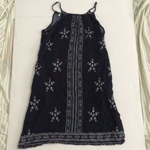 Navy Summer Drawstring Dress